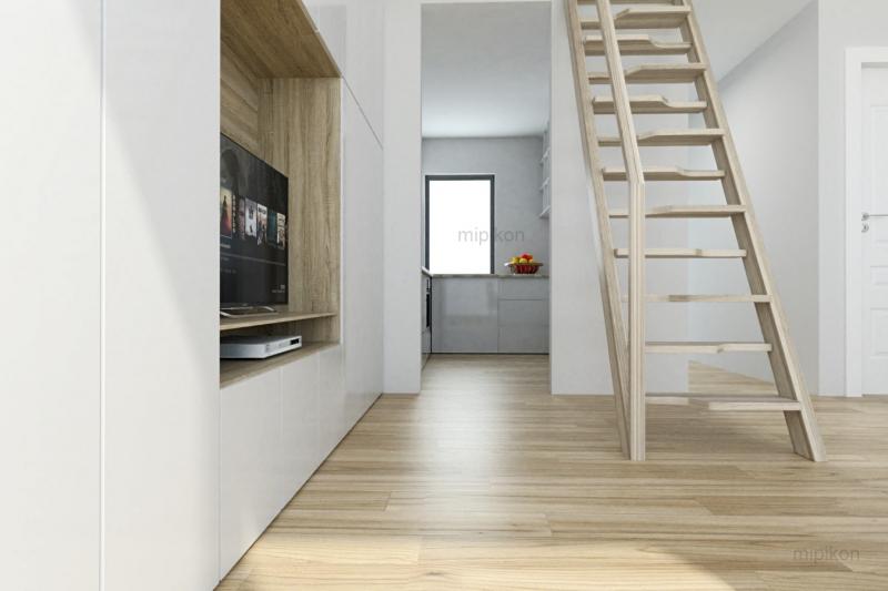 Blick vom Wohnzimmer auf die Küche
